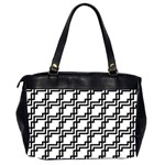 Pattern Monochrome Repeat Oversize Office Handbag (2 Sides) Back