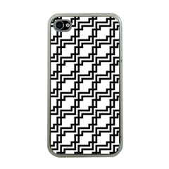 Pattern Monochrome Repeat Iphone 4 Case (clear) by Sapixe