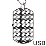 Pattern Monochrome Repeat Dog Tag USB Flash (One Side) Front