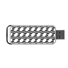 Pattern Monochrome Repeat Portable Usb Flash (one Side) by Sapixe