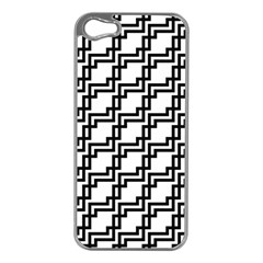 Pattern Monochrome Repeat Iphone 5 Case (silver) by Sapixe