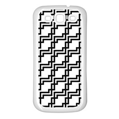 Pattern Monochrome Repeat Samsung Galaxy S3 Back Case (white) by Sapixe