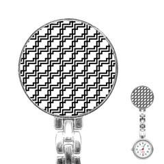 Pattern Monochrome Repeat Stainless Steel Nurses Watch by Sapixe