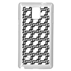 Pattern Monochrome Repeat Samsung Galaxy Note 4 Case (white) by Sapixe