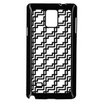 Pattern Monochrome Repeat Samsung Galaxy Note 4 Case (Black) Front