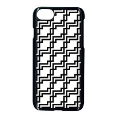 Pattern Monochrome Repeat Iphone 7 Seamless Case (black) by Sapixe