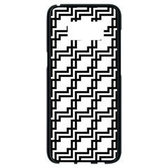 Pattern Monochrome Repeat Samsung Galaxy S8 Black Seamless Case by Sapixe