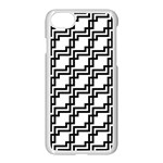 Pattern Monochrome Repeat iPhone 8 Seamless Case (White) Front
