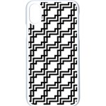 Pattern Monochrome Repeat iPhone X Seamless Case (White) Front