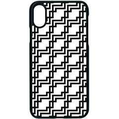 Pattern Monochrome Repeat Iphone Xs Seamless Case (black) by Sapixe