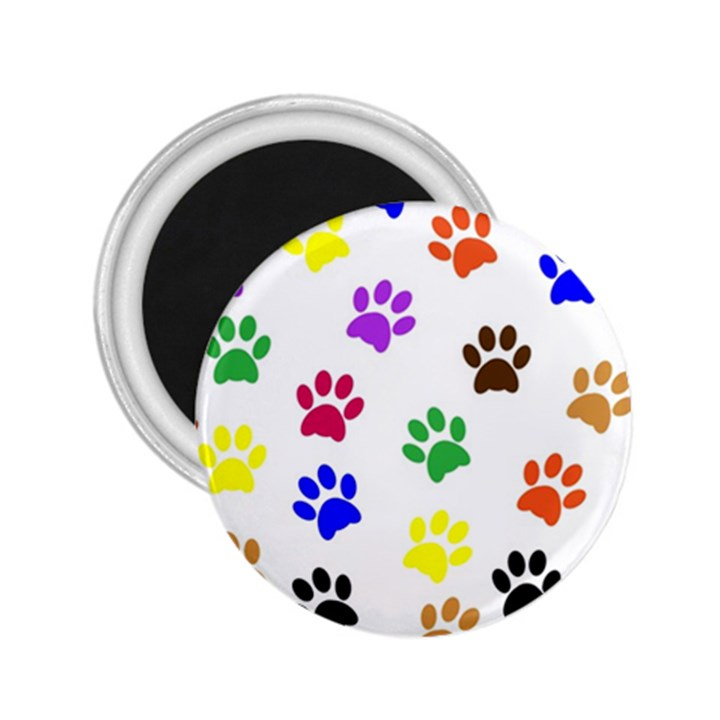 Pawprints Paw Prints Paw Animal 2.25  Magnets
