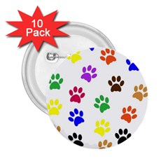 Pawprints Paw Prints Paw Animal 2 25  Buttons (10 Pack)