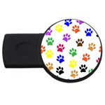 Pawprints Paw Prints Paw Animal USB Flash Drive Round (4 GB) Front