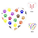 Pawprints Paw Prints Paw Animal Playing Cards (Heart) Front