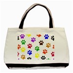 Pawprints Paw Prints Paw Animal Basic Tote Bag (Two Sides) Front