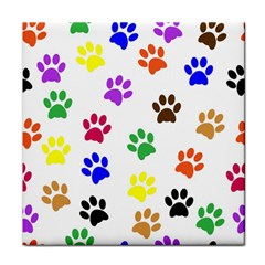 Pawprints Paw Prints Paw Animal Face Towel