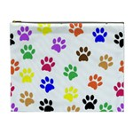 Pawprints Paw Prints Paw Animal Cosmetic Bag (XL) Front