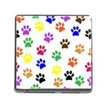 Pawprints Paw Prints Paw Animal Memory Card Reader (Square 5 Slot) Front