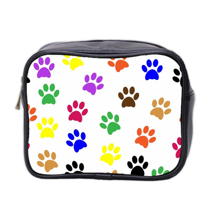 Pawprints Paw Prints Paw Animal Mini Toiletries Bag (Two Sides)