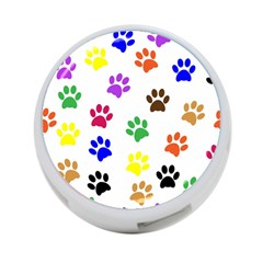 Pawprints Paw Prints Paw Animal 4 Port Usb Hub (one Side)