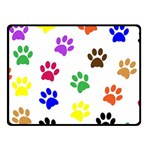 Pawprints Paw Prints Paw Animal Fleece Blanket (Small) 50 x40  Blanket Front