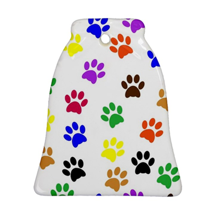 Pawprints Paw Prints Paw Animal Bell Ornament (Two Sides)