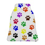 Pawprints Paw Prints Paw Animal Bell Ornament (Two Sides) Back