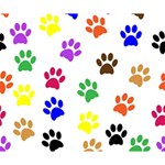 Pawprints Paw Prints Paw Animal Deluxe Canvas 14  x 11  (Stretched) 14  x 11  x 1.5  Stretched Canvas