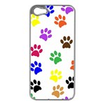 Pawprints Paw Prints Paw Animal iPhone 5 Case (Silver) Front