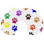 Pawprints Paw Prints Paw Animal Travel Neck Pillow Back