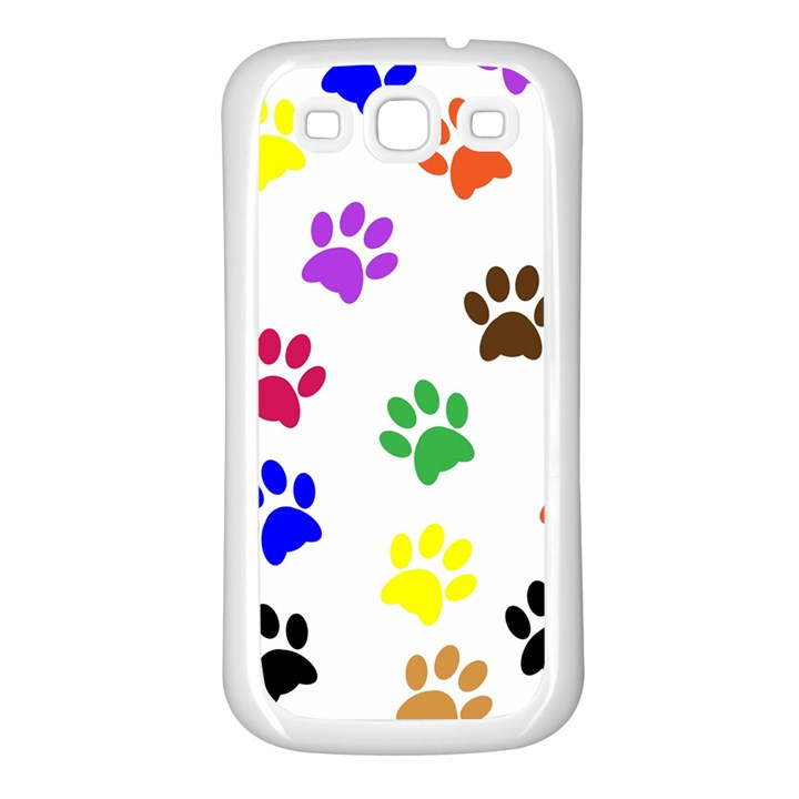 Pawprints Paw Prints Paw Animal Samsung Galaxy S3 Back Case (White)