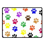 Pawprints Paw Prints Paw Animal Double Sided Fleece Blanket (Small)  45 x34  Blanket Front