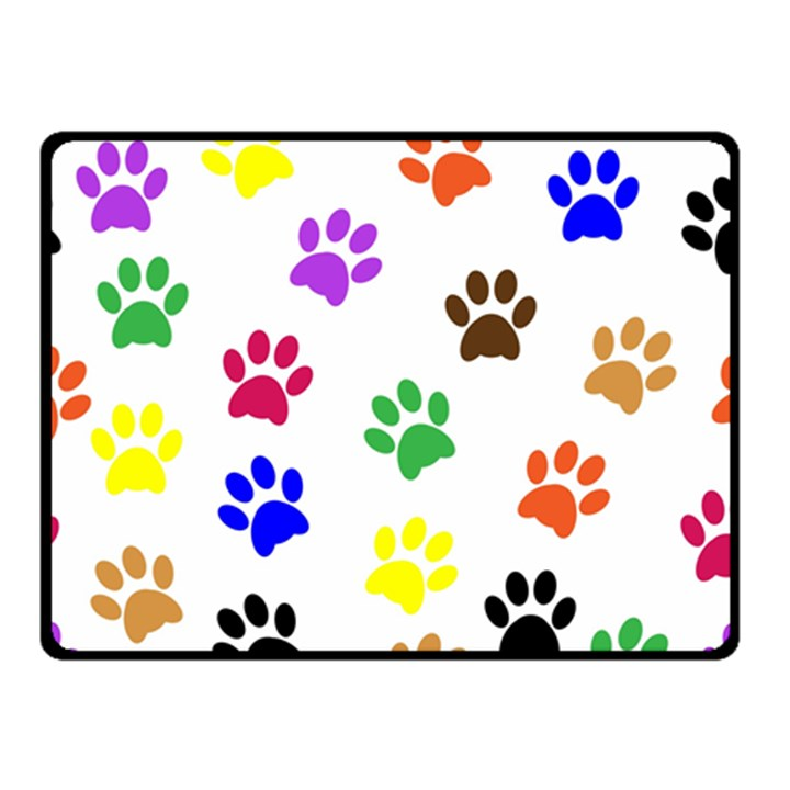 Pawprints Paw Prints Paw Animal Double Sided Fleece Blanket (Small)