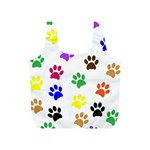 Pawprints Paw Prints Paw Animal Full Print Recycle Bag (S) Back