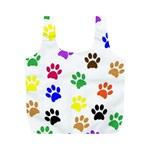 Pawprints Paw Prints Paw Animal Full Print Recycle Bag (M) Back