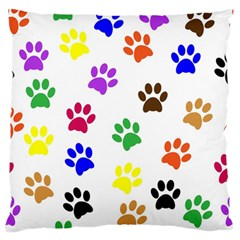 Pawprints Paw Prints Paw Animal Large Flano Cushion Case (one Side)