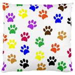 Pawprints Paw Prints Paw Animal Large Flano Cushion Case (One Side) Front
