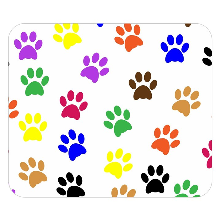 Pawprints Paw Prints Paw Animal Double Sided Flano Blanket (Small)