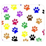 Pawprints Paw Prints Paw Animal Double Sided Flano Blanket (Small)  50 x40  Blanket Back