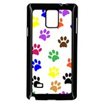 Pawprints Paw Prints Paw Animal Samsung Galaxy Note 4 Case (Black) Front