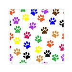 Pawprints Paw Prints Paw Animal Small Satin Scarf (Square) Front