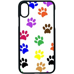 Pawprints Paw Prints Paw Animal Iphone X Seamless Case (black)