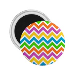 Chevron Pattern Design Texture 2 25  Magnets by Sapixe