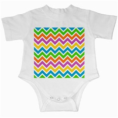 Chevron Pattern Design Texture Infant Creepers