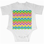 Chevron Pattern Design Texture Infant Creepers Front