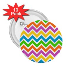 Chevron Pattern Design Texture 2 25  Buttons (10 Pack)  by Sapixe
