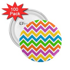 Chevron Pattern Design Texture 2 25  Buttons (100 Pack)  by Sapixe