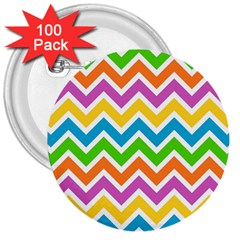 Chevron Pattern Design Texture 3  Buttons (100 Pack)  by Sapixe