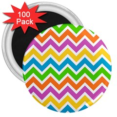 Chevron Pattern Design Texture 3  Magnets (100 Pack) by Sapixe