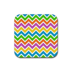 Chevron Pattern Design Texture Rubber Square Coaster (4 Pack)  by Sapixe